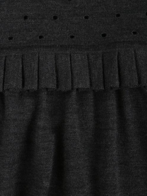 Джемпер из шерсти свободного кроя с декоративной отделкой - Деталь