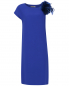 Платье прямого кроя декорированное перьями Yves Salomon  –  Общий вид