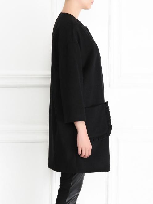 Однобортное пальто из шерсти - МодельВерхНиз2