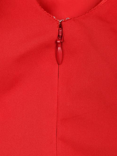 Платье-мини декорированное перьями - Деталь1