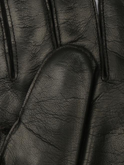 Перчатки кожаные с вязаной подкладкой - Деталь1