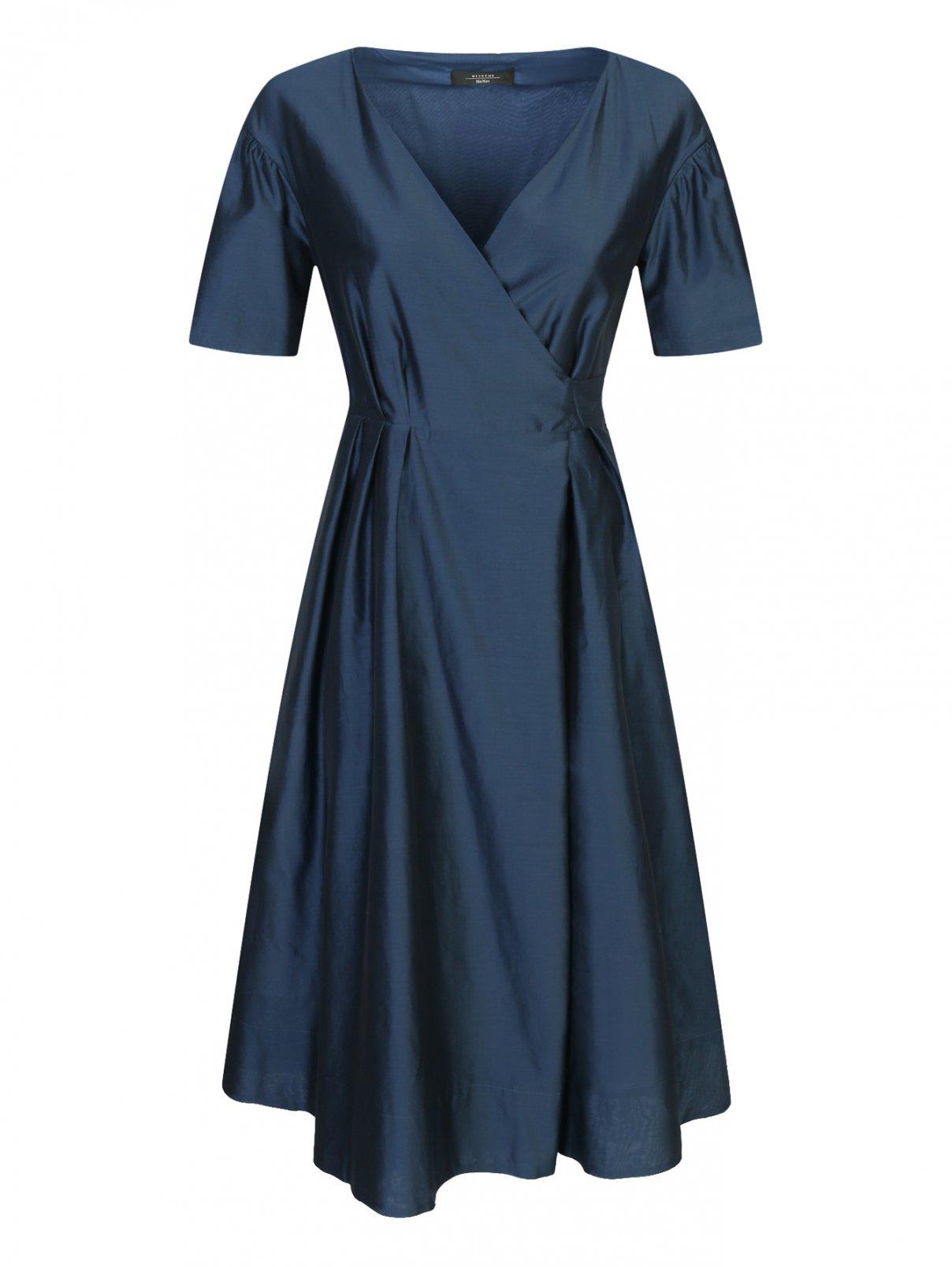 Платье из хлопка и шелка с боковыми карманами Weekend Max Mara  –  Общий вид