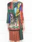 Платье-миди с узором Moschino Boutique  –  МодельВерхНиз1