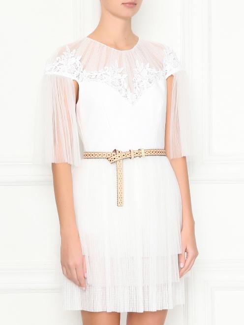 Платье-мини с ремнем - МодельВерхНиз