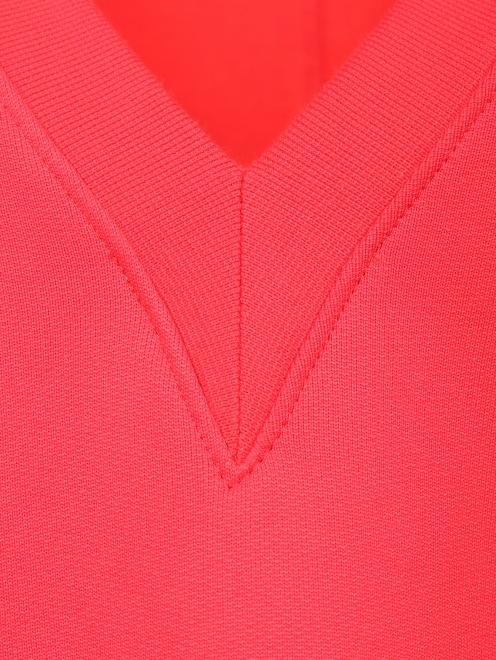 Свитшот из смесового хлопка с У-образным вырезом - Деталь