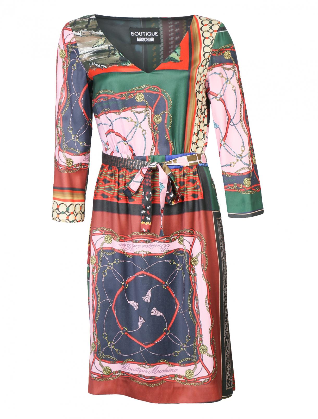 Платье-миди с узором Moschino Boutique  –  Общий вид