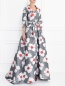 Платье-макси с цветочным узором Carolina Herrera  –  Модель Верх-Низ