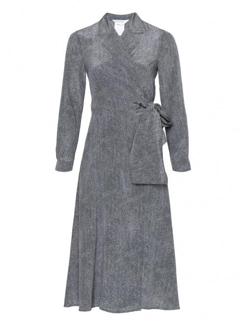Платье-миди из шелка на запах - Общий вид