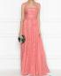Платье-макси из шелка с кружевной отделкой Zuhair Murad  –  МодельОбщийВид