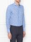 Рубашка из хлопка с узором Belvest  –  МодельВерхНиз