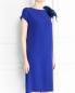 Платье прямого кроя декорированное перьями Yves Salomon  –  Модель Верх-Низ