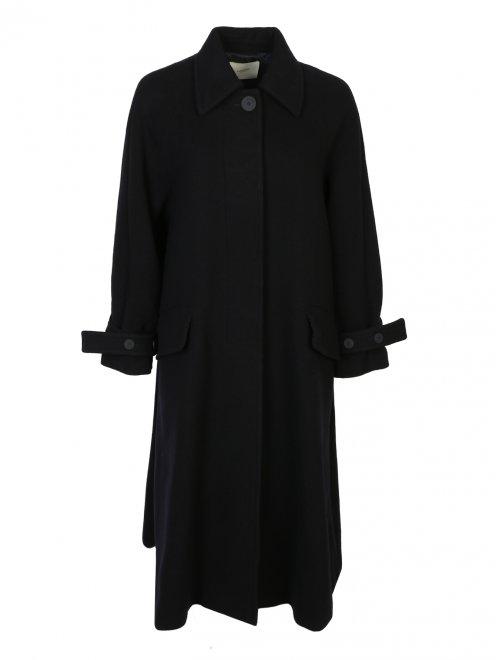 Пальто из шерсти однобортное - Общий вид