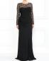 Платье-макси с кружевными вставками Moschino Cheap&Chic  –  Модель Верх-Низ