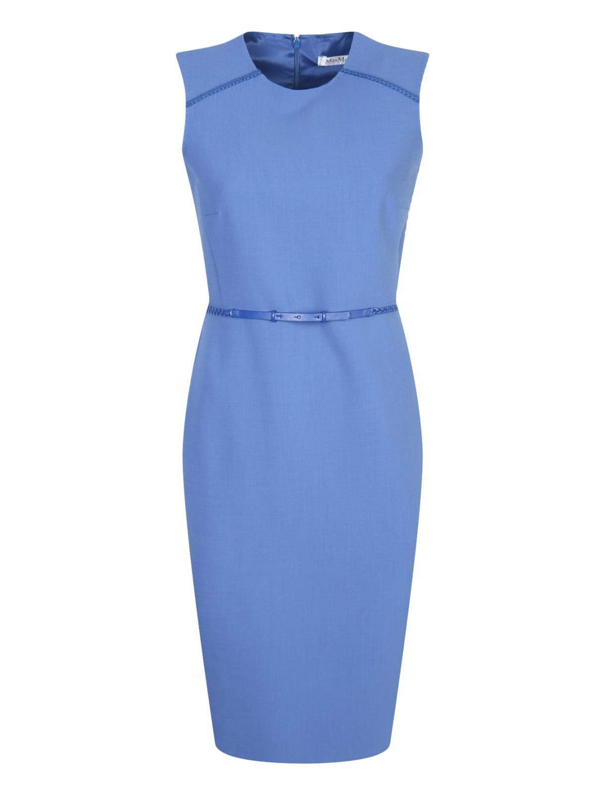 Платье-футляр из шерсти без рукавов Max Mara  –  Общий вид