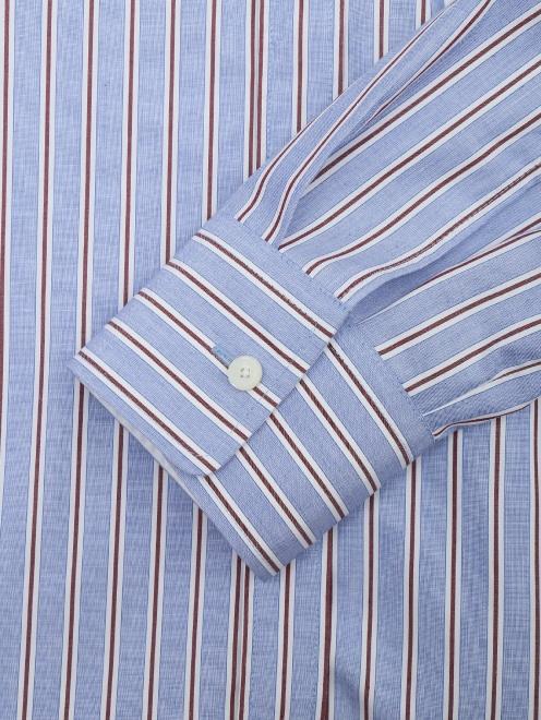 Блуза из хлопка в полоску с контрастным карманом - Деталь1