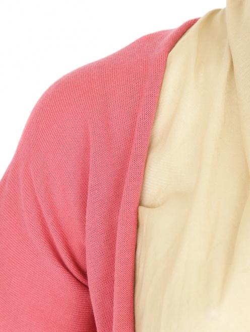 Джемпер из хлопка мелкой вязки с подкладом из хлопка - Деталь