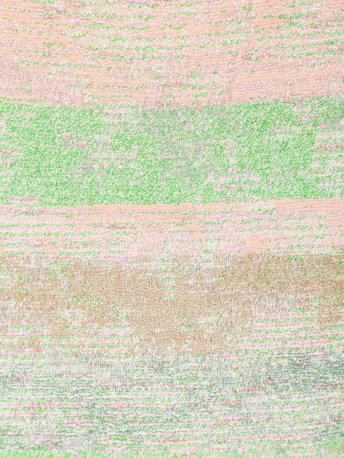 Юбка-карандаш из фактурной ткани с вышивкой - Деталь