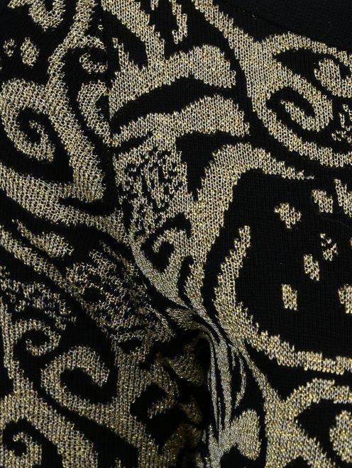 Платье из фактурной ткани с узором  - Деталь
