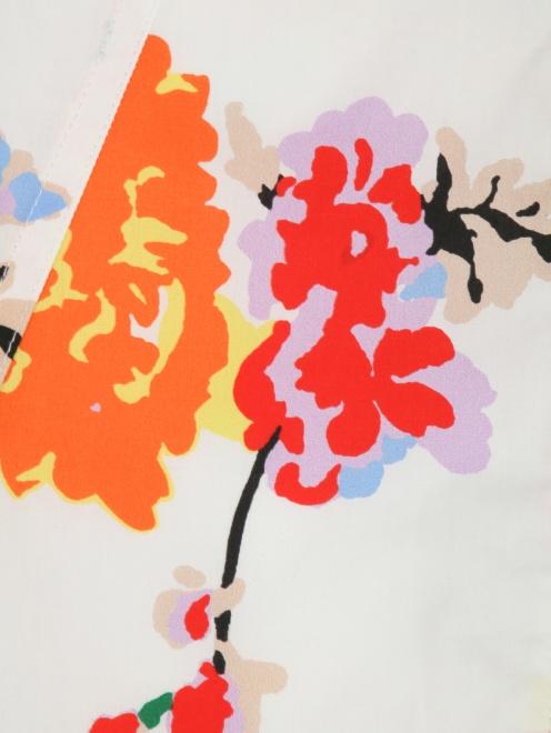 Юбка из хлопка с цветочным узором - Общий вид