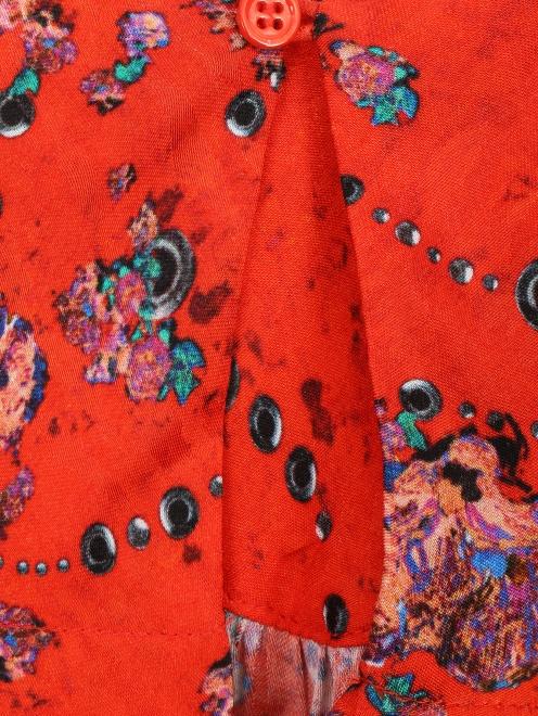 Блуза свободного кроя с узором - Деталь