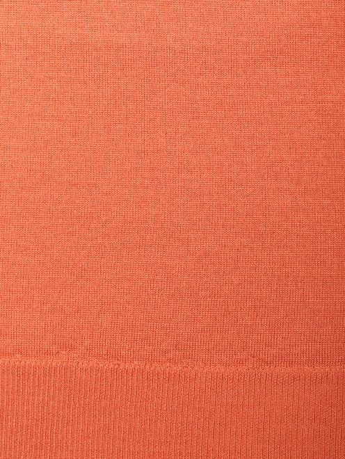 Джемпер из шерсти шелка и кашемира с v образным вырезом  - Деталь