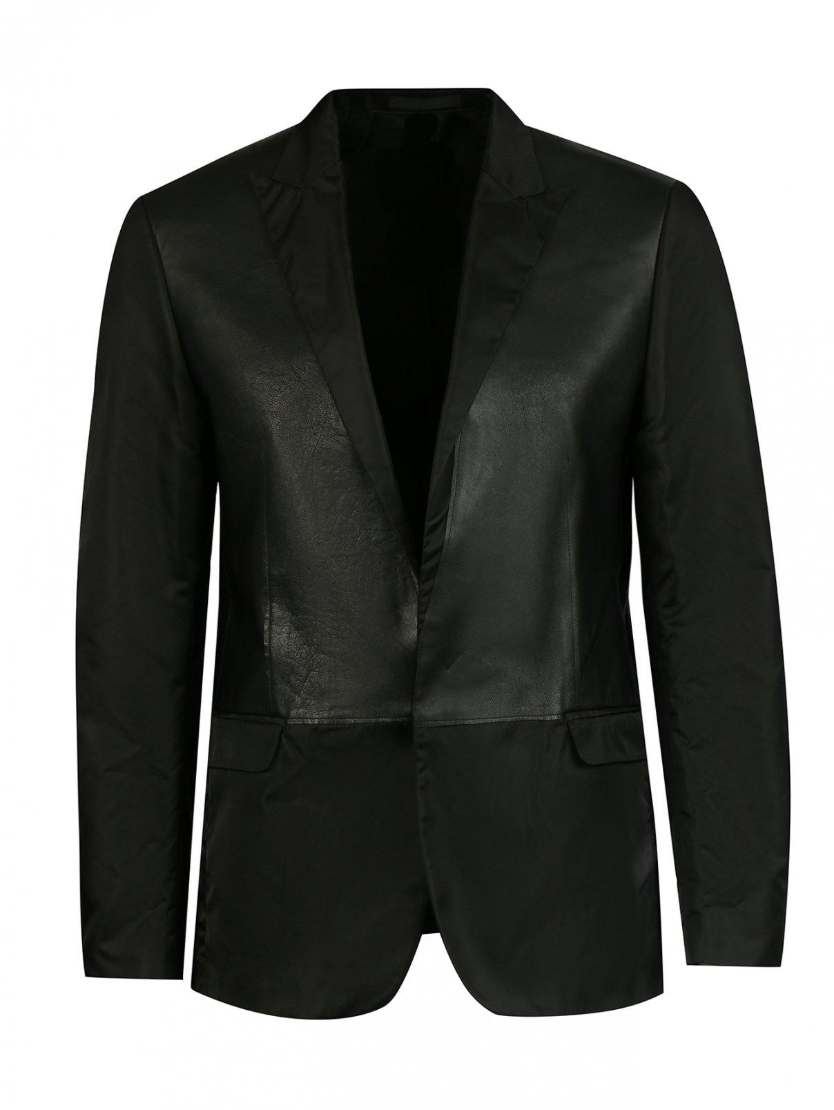 Пиджак со вставками из кожи Costume National  –  Общий вид