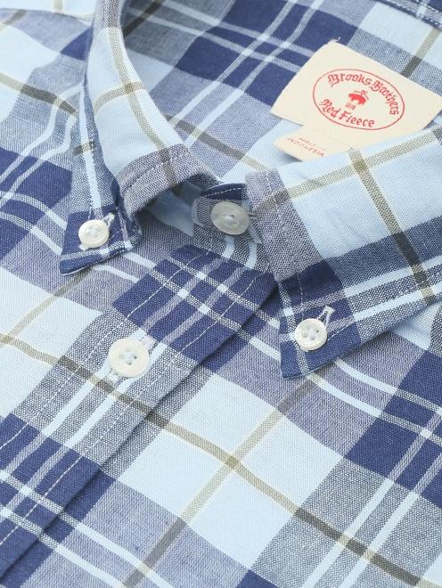 Рубашка из хлопка и льна с узором - Деталь