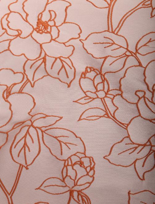 Платье-миди с цветочным узором - Деталь