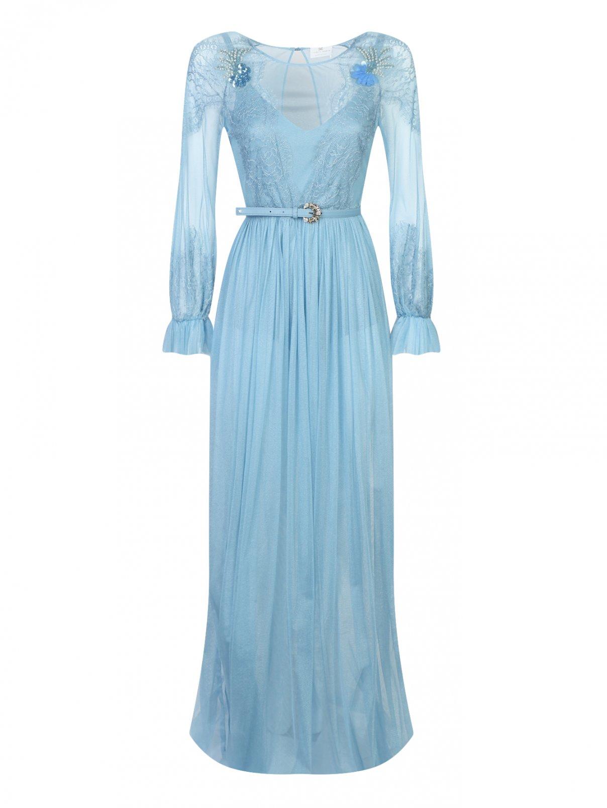 Платье-макси с кружевным узором Elisabetta Franchi  –  Общий вид