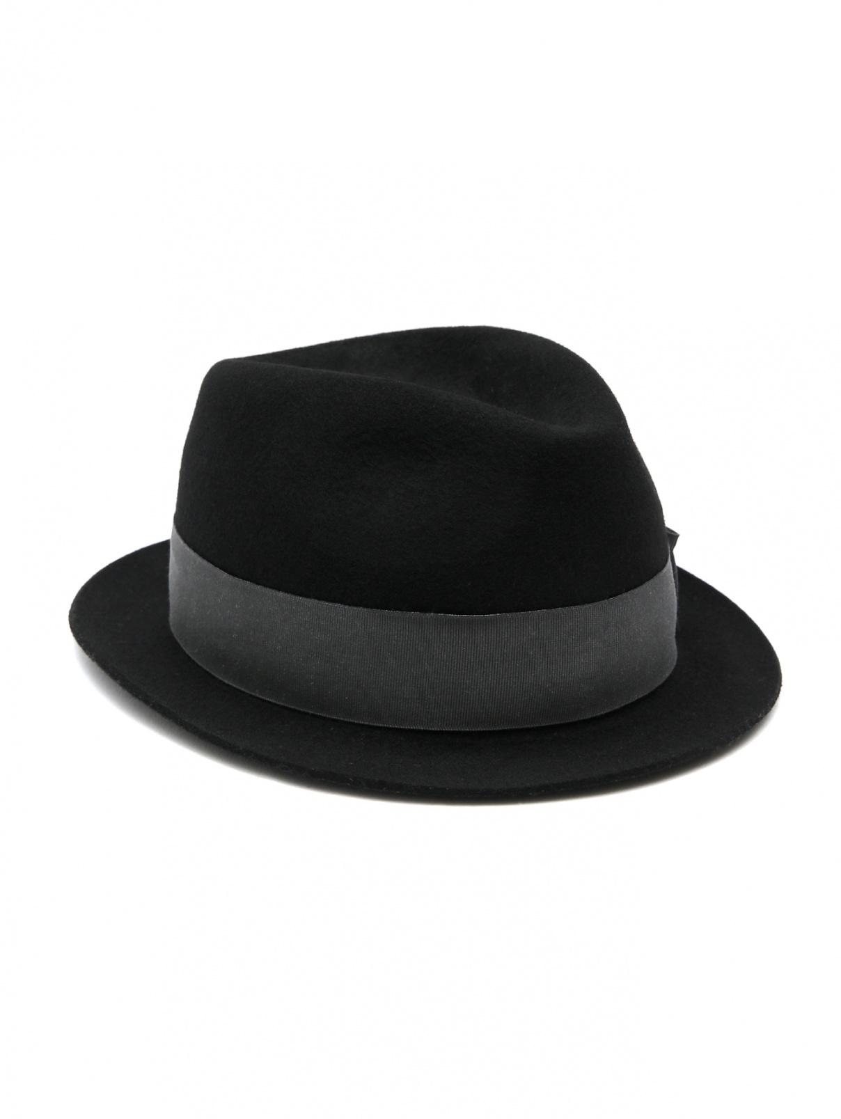 Однотонная шляпа из шерсти Paul Smith  –  Общий вид  – Цвет:  Черный
