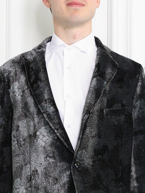 Пиджак однобортный с узором - МодельОбщийВид1