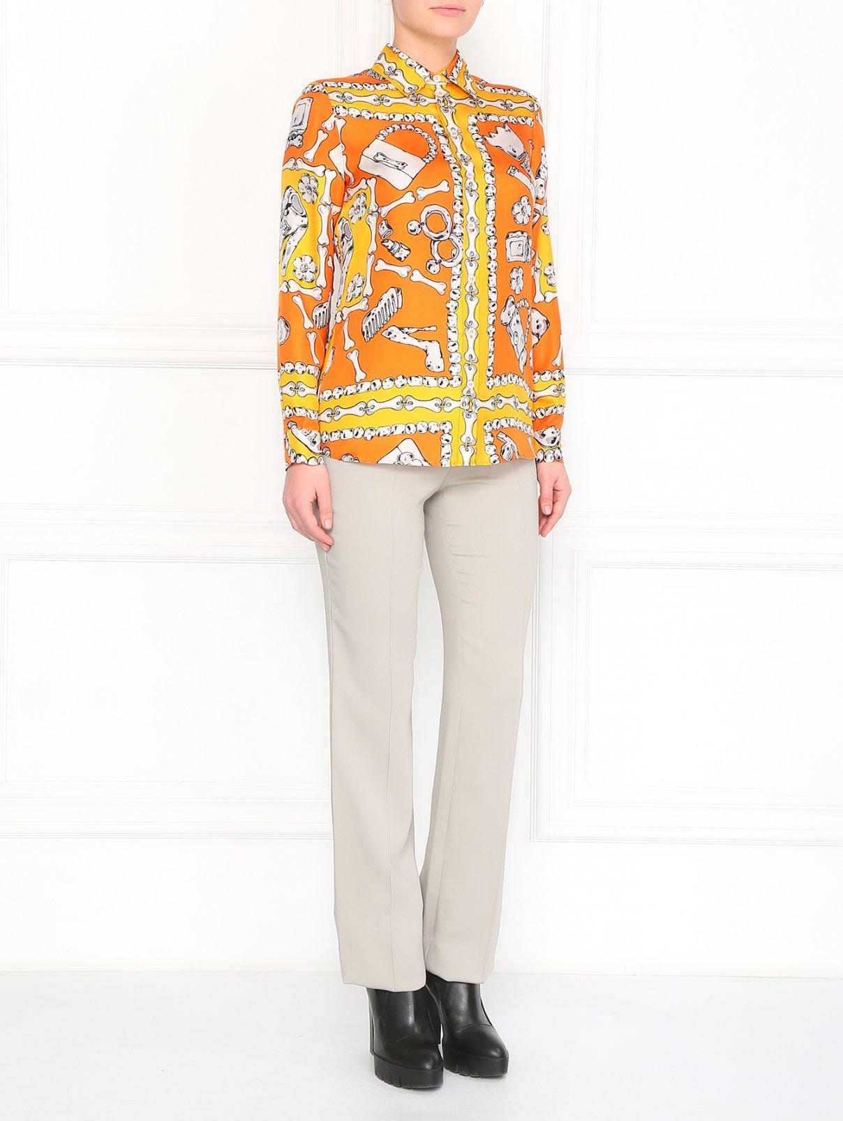 Прямые брюки со стрелками Versace  –  Модель Общий вид