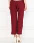 Укороченные брюки из хлопка с боковыми карманами Jil Sander  –  Модель Верх-Низ1