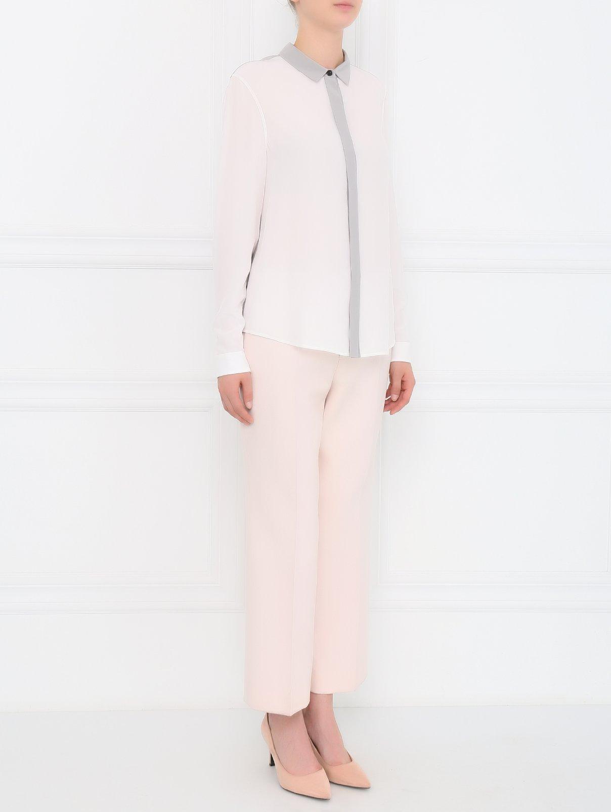 Укороченные брюки из шерсти Jil Sander  –  Модель Общий вид
