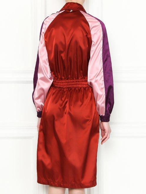 Платье-миди с контрастной отделкой - МодельВерхНиз1
