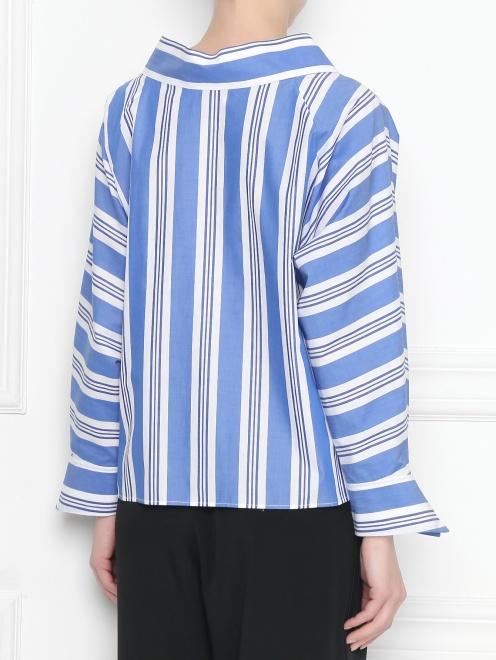 Блуза из хлопка с узором полоска - МодельВерхНиз1