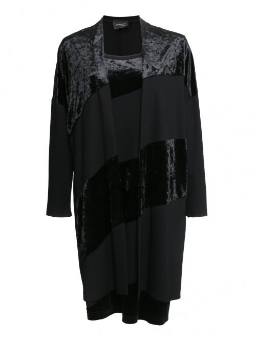 Комплект (платье, кардиган) из вискозы  - Общий вид