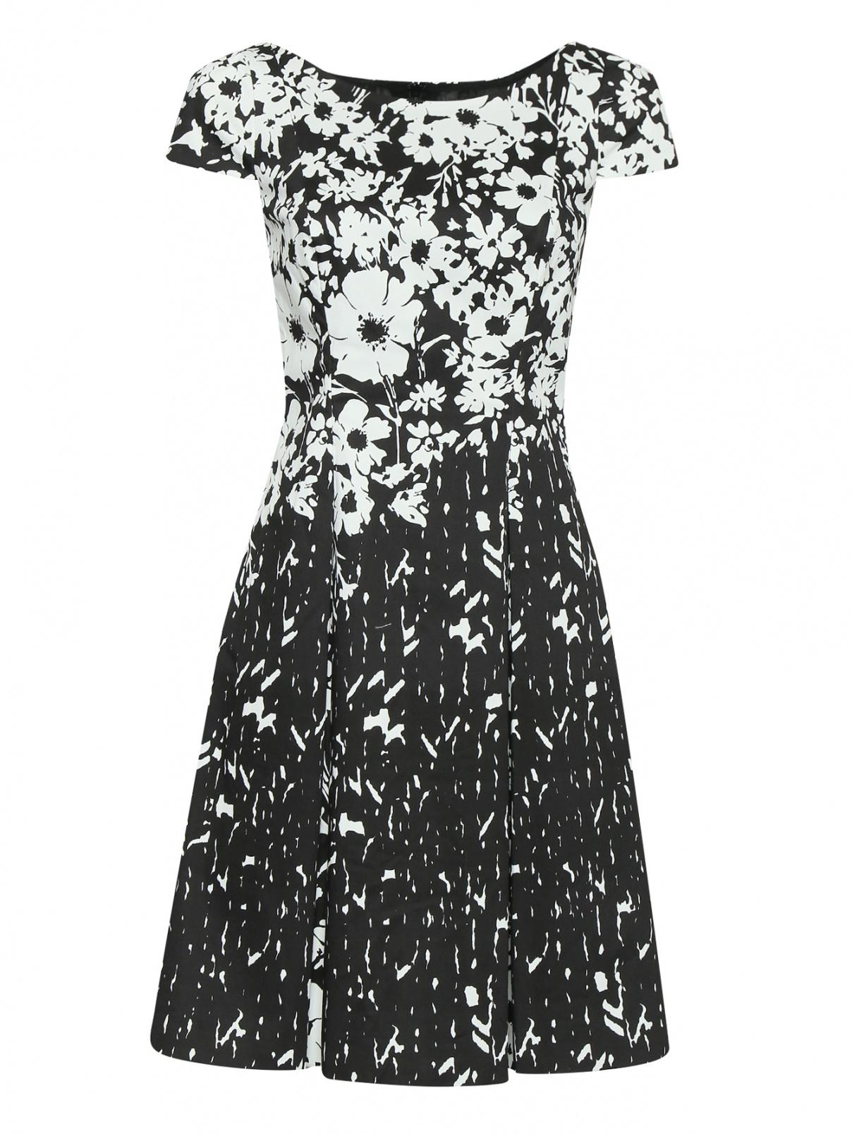 Платье из хлопка с узором Luisa Spagnoli  –  Общий вид  – Цвет:  Узор