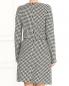 Трикотажное платье-миди из хлопка с узором Emporio Armani  –  Модель Верх-Низ1