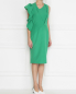 Платье ассиметричного кроя с воланом Rhea Costa  –  МодельВерхНиз