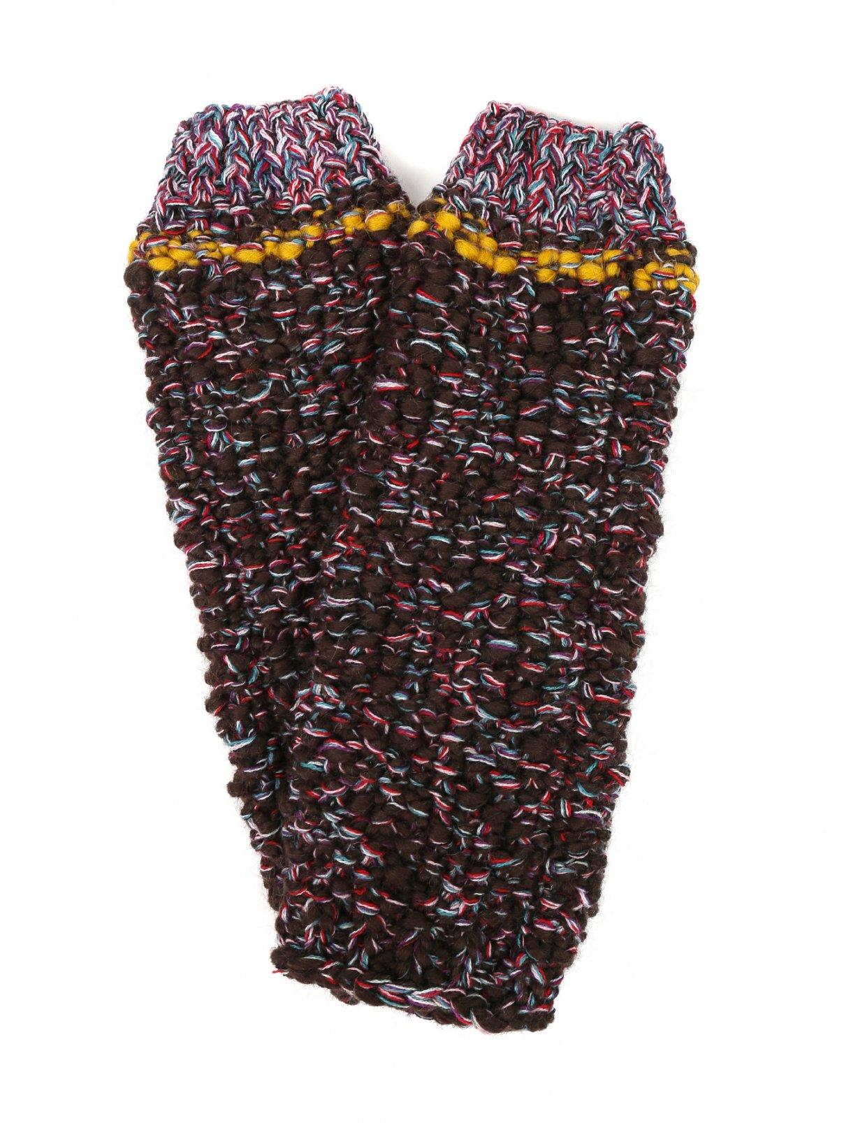 Трикотажные митенки из шерсти с узором Etro  –  Общий вид  – Цвет:  Узор