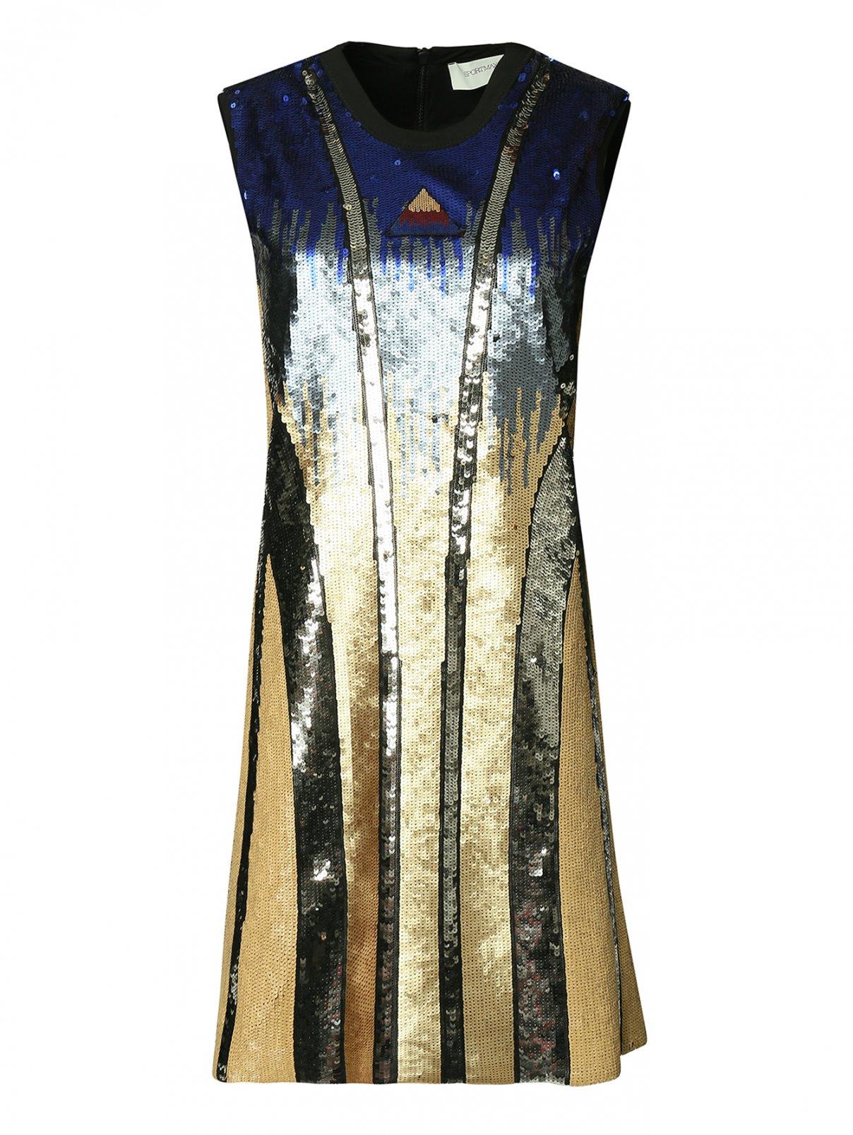 Платье-футляр из ткани с пайетками Sportmax  –  Общий вид