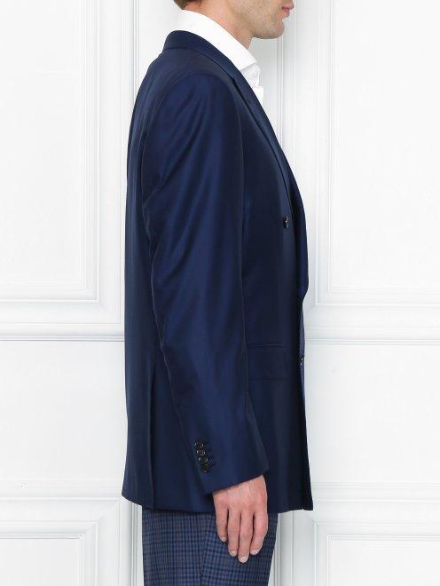 Двубортный пиджак из шерсти - МодельВерхНиз2