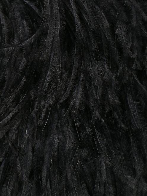 Платье макси декорированное перьями  - Деталь
