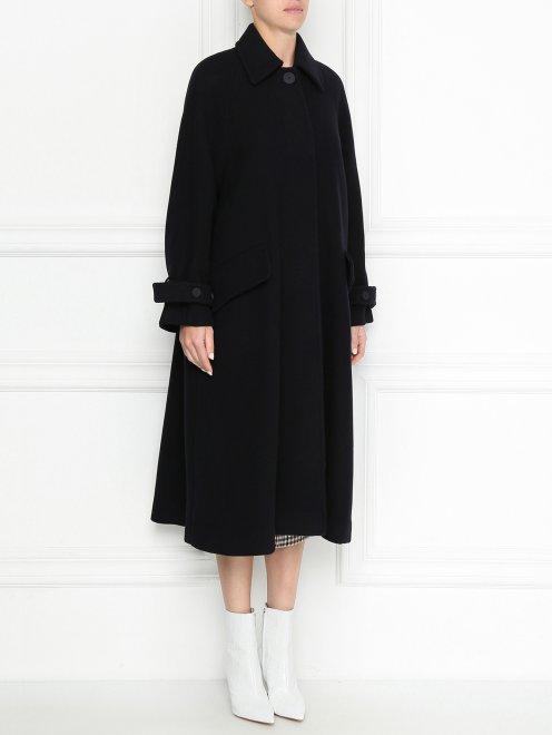 Пальто из шерсти однобортное - МодельВерхНиз