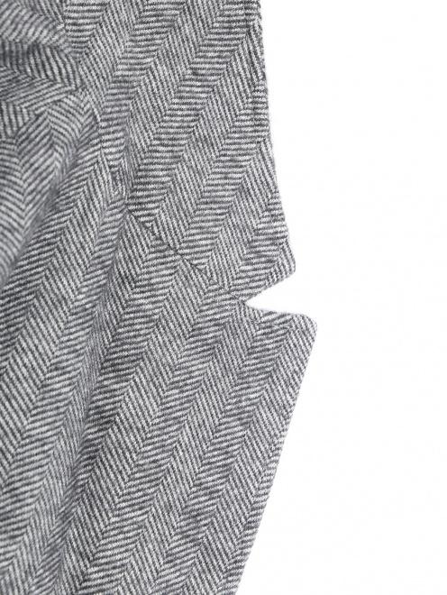 Пиджак однобортный из хлопка и шерсти  - Деталь1