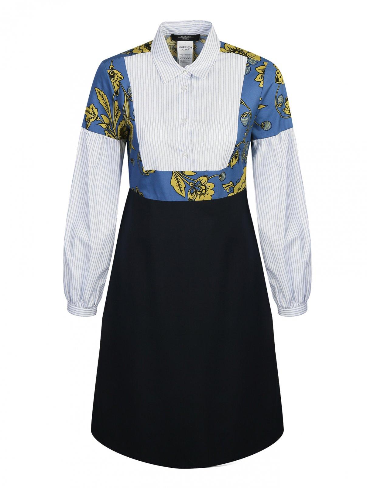 Платье-миди из шерсти с узором Weekend Max Mara  –  Общий вид