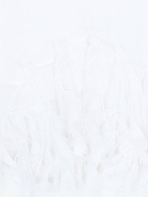 Джинсы с аппликацией и бахромой - Деталь2