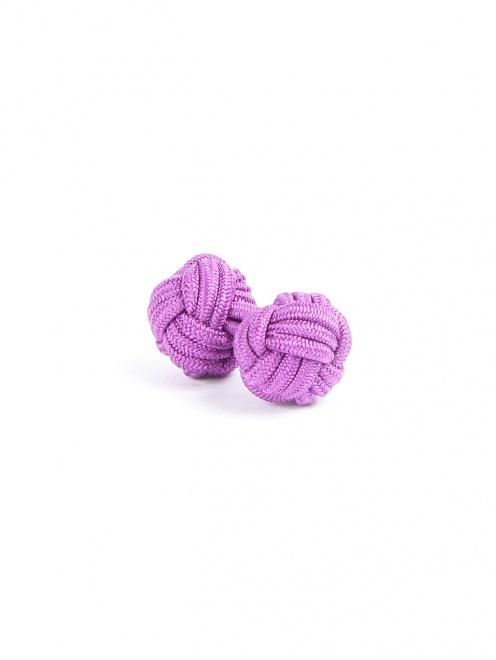 Запонки из текстиля  - Обтравка1