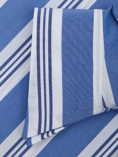 Блуза из хлопка с узором полоска - Деталь1